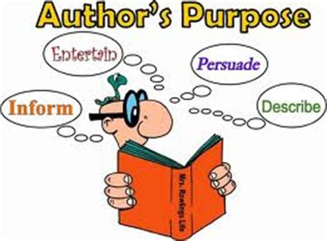 Authors Purpose Ereading Worksheets